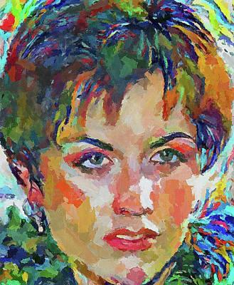 Digital Art - Dolores O Riordan Tribute Portrait 5 by Yury Malkov