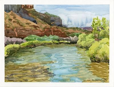 Dolores Painting - Dolores River Gateway Co by Gurukirn Khalsa