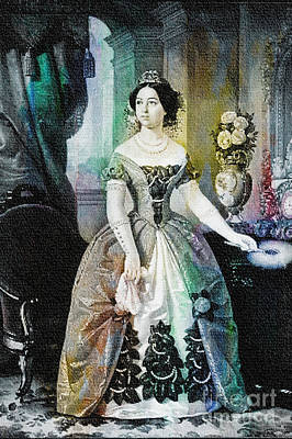 Painting - Dolores Tosta De Lopez De Santa Anna - 1855 by Ian Gledhill