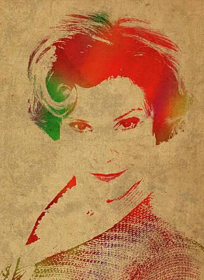 Dolores Umbridge Mixed Media - Dolores Umbridge From Harry Potter Watercolor Portrait by Design Turnpike