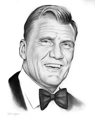 Hero Drawing - Dolph Lundgren by Greg Joens