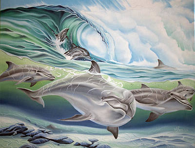 Painting - Dolphin 2 by William Love