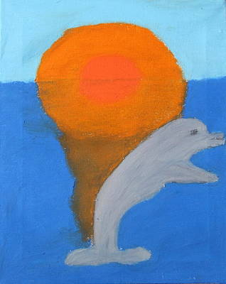 Dolphin At Sunset Art Print by Melissa Parks