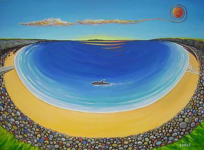 Dolphin At Whitestrand Art Print by Eamon Doyle