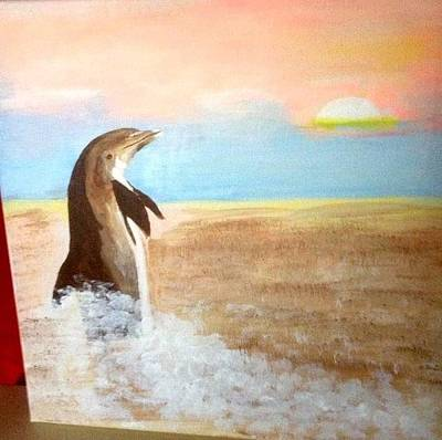 Painting - Dolphin by Audrey Pollitt