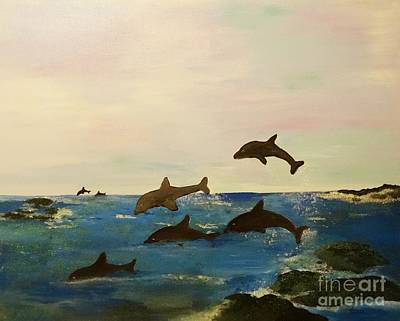 Painting - Dolphin Bay by Karen Jane Jones