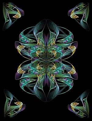 Digital Art - Dolphin Dance Flower by Ricky Kendall