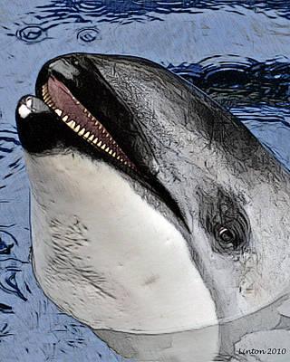 Dolphin Digital Art - Dolphin Dentition by Larry Linton