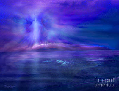 Dolphins Digital Art - Dolphin Dreaming by Glenyss Bourne