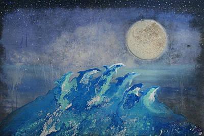 Painting - Dolphin Dreams by Alma Yamazaki