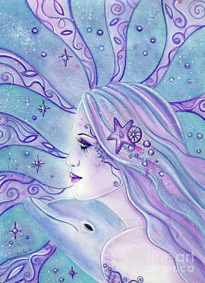 Dolphin Dreams Mermaid Original by Renee Lavoie