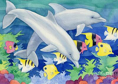 Dolphin Fish Painting - Dolphin Duo by Paul Brent