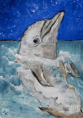 Painting - Dolphin by Ella Kaye Dickey
