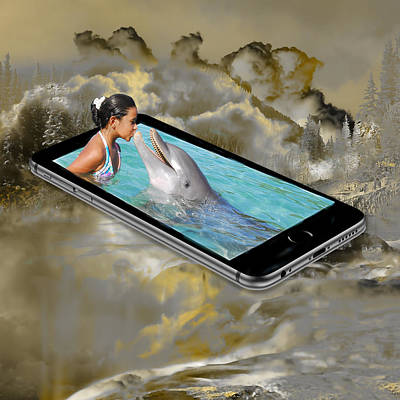 Mixed Media - Dolphin Experience by Marvin Blaine
