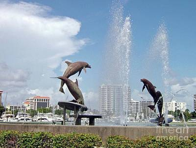 Photograph - Dolphin Fountain by Gary Wonning