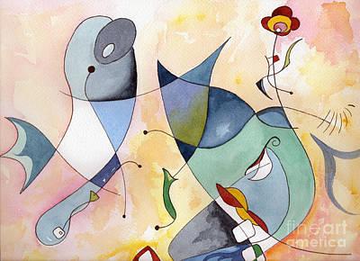 Painting - Dolphin Garden by Carolyn Weir