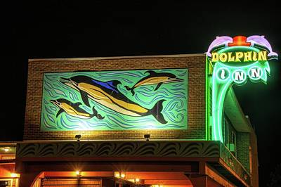 Photograph - Dolphin Inn - Wildwood Nj by Kristia Adams