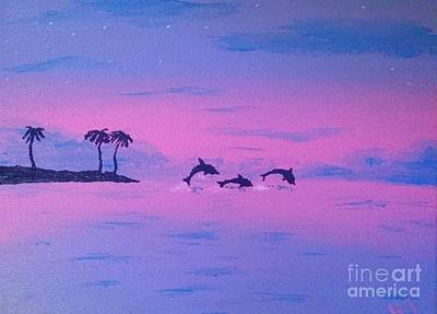 Dolphine Painting - Dolphin Island by Heather James