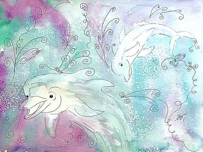 Painting - Dolphin Jubilee  by Ellen Levinson