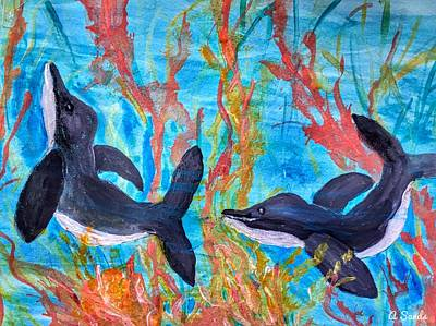 Painting - Dolphin Playground by Anne Sands