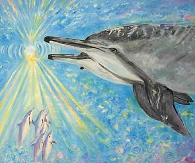 Pele Painting - Dolphin Power by Tamara Tavernier