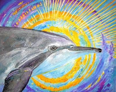 Liberation Painting - Dolphin Ray by Tamara Tavernier