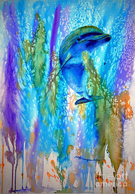 Painting - Dolphin Sea by Tracy Rose Moyers