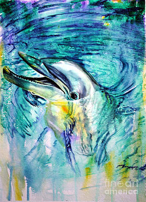 Painting - Dolphin Smile by Tracy Rose Moyers