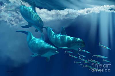 Dolphin World Art Print