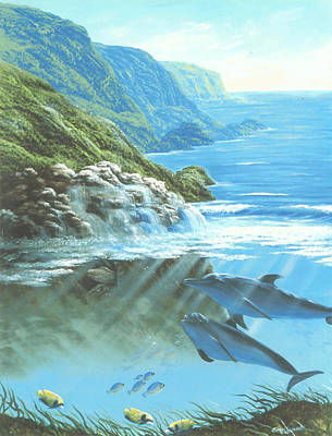 Painting - Dolphins At Moray Rock by Susan Elizabeth Wolding