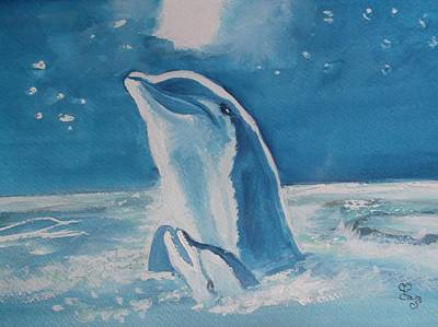 Painting - Dolphins by Carole Robins