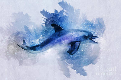 Digital Art - Dolphins Freedom by Ian Mitchell