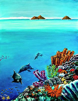 Dolphins Moorish Idle Lion Fish #253 Art Print by Donald k Hall