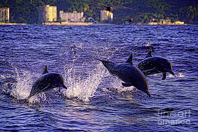 Photograph - Dolphins by Patrick Witz