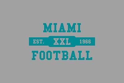 Miami Dolphins Photograph - Dolphins Retro Shirt by Joe Hamilton