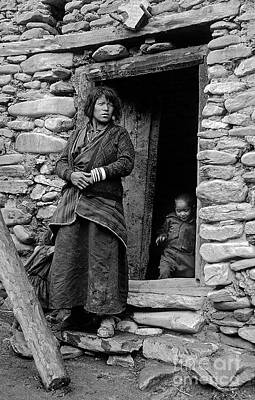 Photograph - Dolpopa Mother And Child - Nepal by Craig Lovell