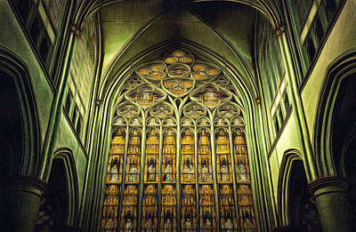 Painting - Dom Church Cathedral Gothic Style Art Painting by Wall Art Prints