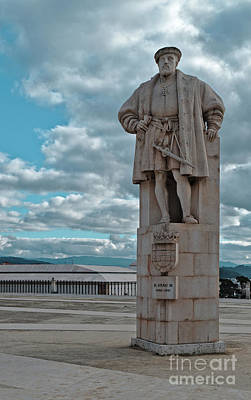 Photograph - Dom Joao IIi Statue In Coimbra University by Angelo DeVal