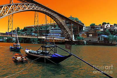Luis Sales Photograph - Dom Luis Bridge Pop Art by John Rizzuto