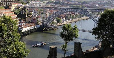 Photograph - Dom Luis Bridge Porto by Andrew Fare