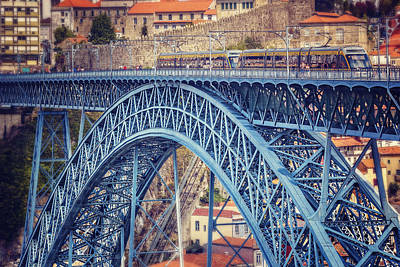 Townscape Photograph - Dom Luis Bridge Porto  by Carol Japp