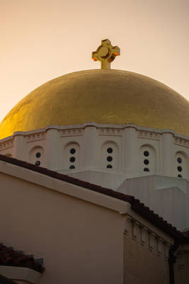 Photograph - Dome And Cross At St Sophia by Ed Gleichman