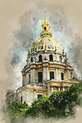Digital Art - Dome Des Invalides by Kai Saarto