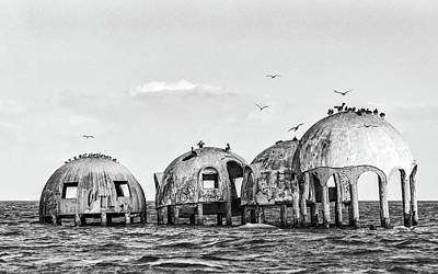 Photograph - Dome Homes Bw by Framing Places