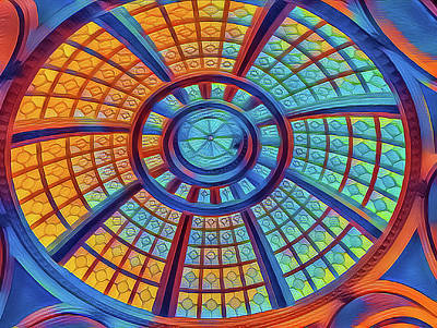 Mixed Media - Dome Of Colors by Jonathan Nguyen