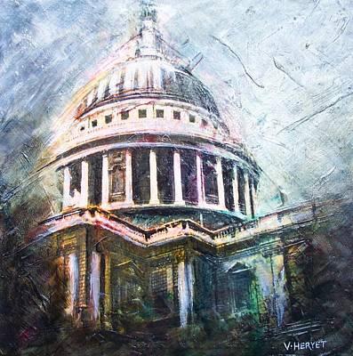 Dome Of Saint Pauls Art Print by Victoria Heryet