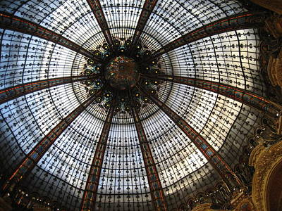 Dome Of The Galleries Lafayette Art Print by Victoria Heryet