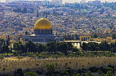 Photograph - Dome Of The Rock by Isam Awad