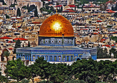 Photograph - Dome Of The Rock by T Guy Spencer