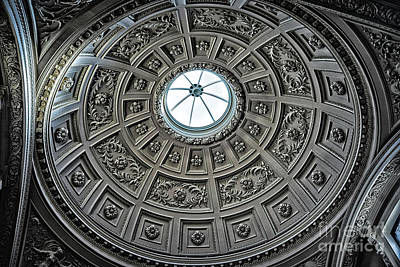 Photograph - Domed Ceiling In England by Walt Foegelle